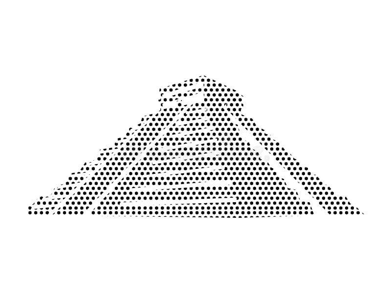 Imagen del modelo punteado de una pirámide de los Aztecas stock de ilustración