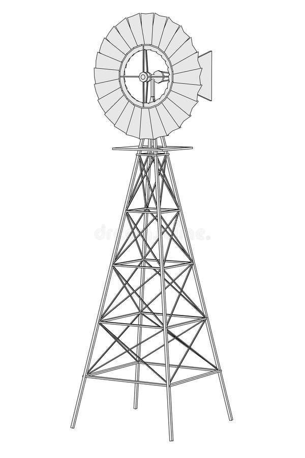 Imagen del molino de viento libre illustration