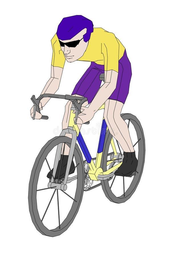 Imagen del motorista en la bici ilustración del vector