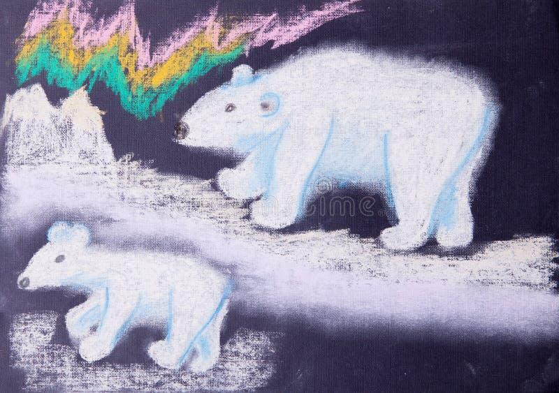 Imagen del niño de los osos blancos stock de ilustración