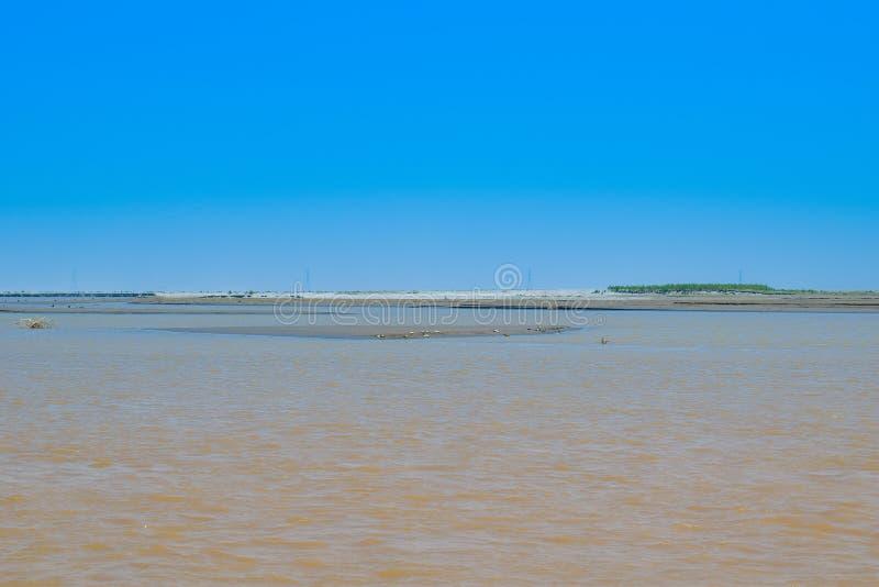 Imagen del paisaje del río histórico indus en invierno imágenes de archivo libres de regalías