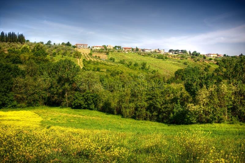 Imagen del paisaje toscano típico imagenes de archivo