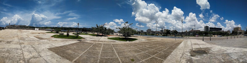 imagen del panorama de un lugar vacío en la ciudad imagen de archivo libre de regalías