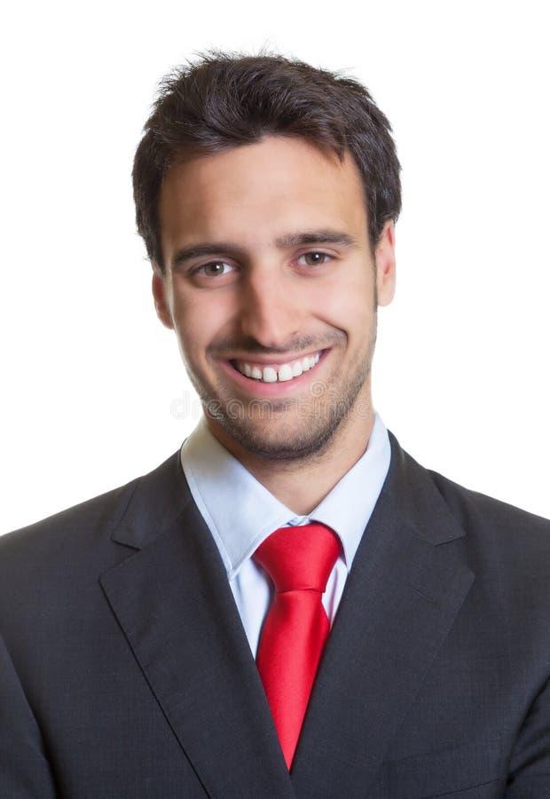 Imagen del pasaporte de un hombre de negocios hispánico con el traje imagen de archivo libre de regalías