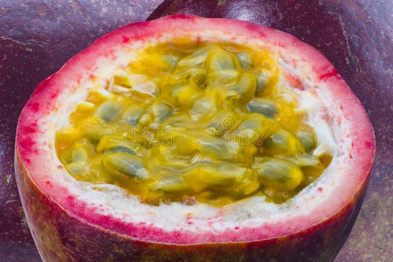 Imagen del passionfruit del primer imagen de archivo libre de regalías
