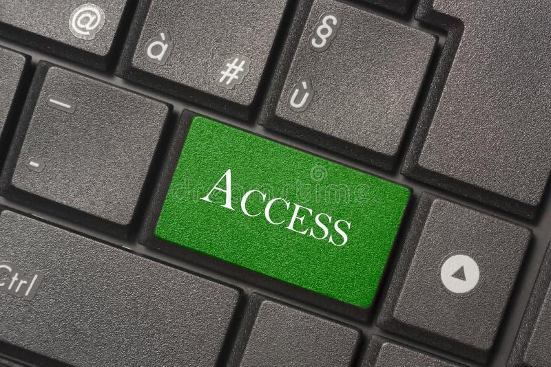 Imagen del primer del botón del acceso del teclado de un ordenador moderno fotos de archivo libres de regalías