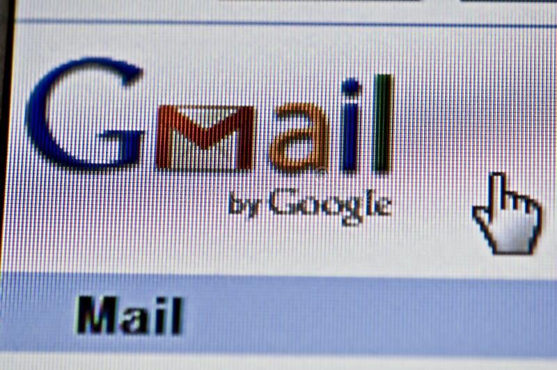Imagen del primer de Gmail fotos de archivo