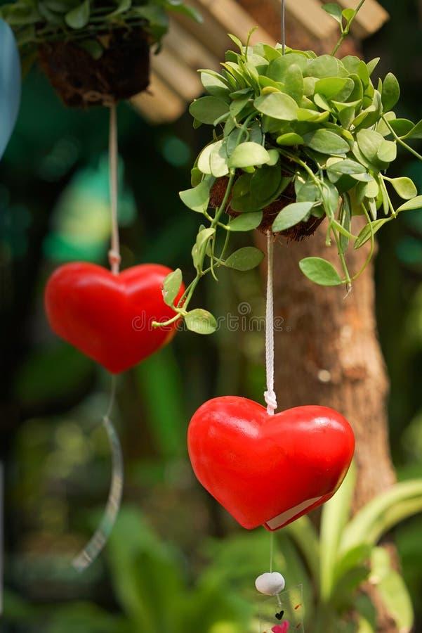 Imagen del primer de la ejecución móvil del corazón rojo imagen de archivo libre de regalías