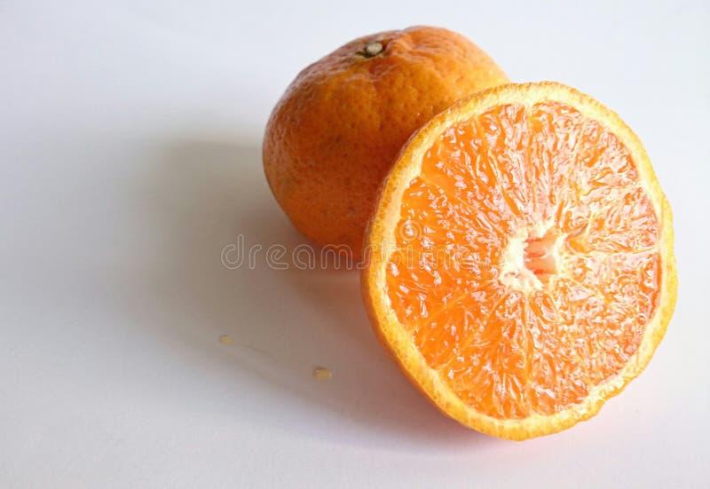Imagen del primer de la fruta anaranjada imagen de archivo