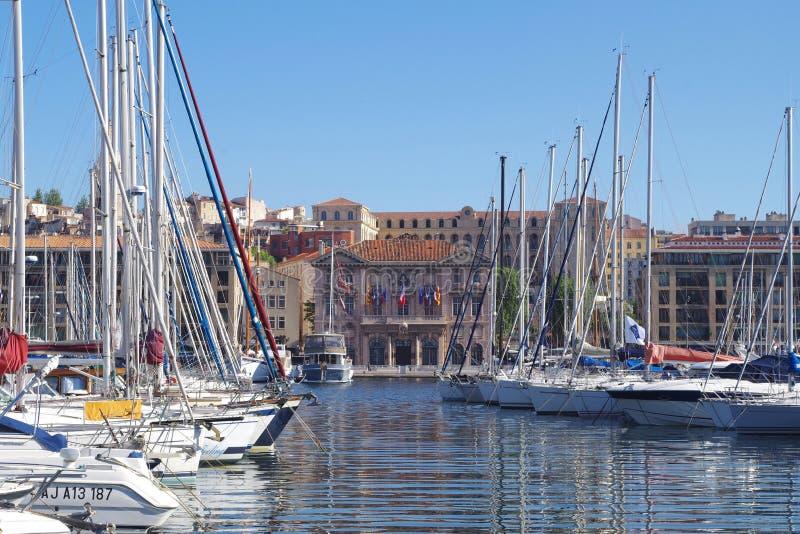 Imagen del puerto de Marsella Vieux imágenes de archivo libres de regalías
