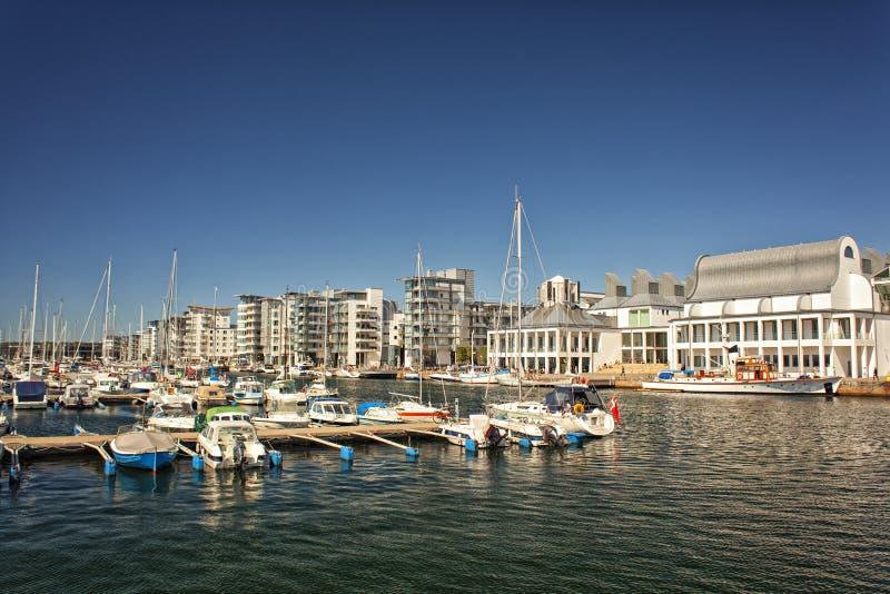 Puerto deportivo de lujo en Helsingborg, Suecia imagen de archivo libre de regalías