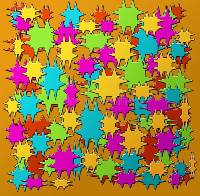 Imagen del punto en un fondo coloreado ilustraciones ilustración del vector