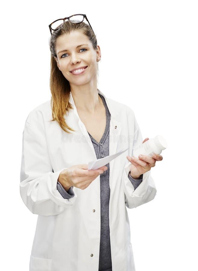 Imagen del recorte del lanzamiento de los jóvenes del farmacéutico fotos de archivo libres de regalías