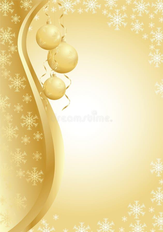 Imagen del saludo de la Navidad ilustración del vector