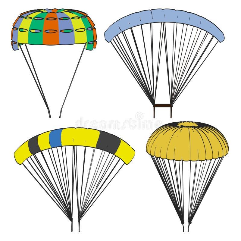Imagen del sistema del paracaídas ilustración del vector