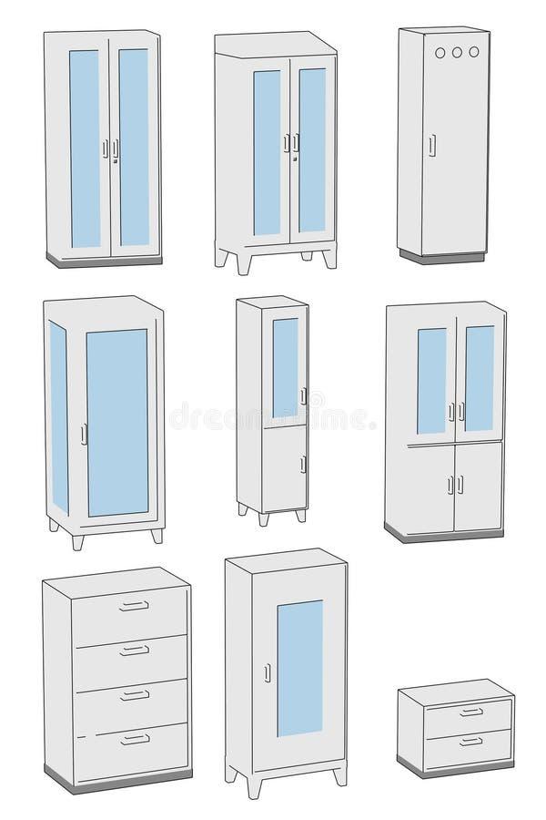 Imagen del sistema médico del armario stock de ilustración