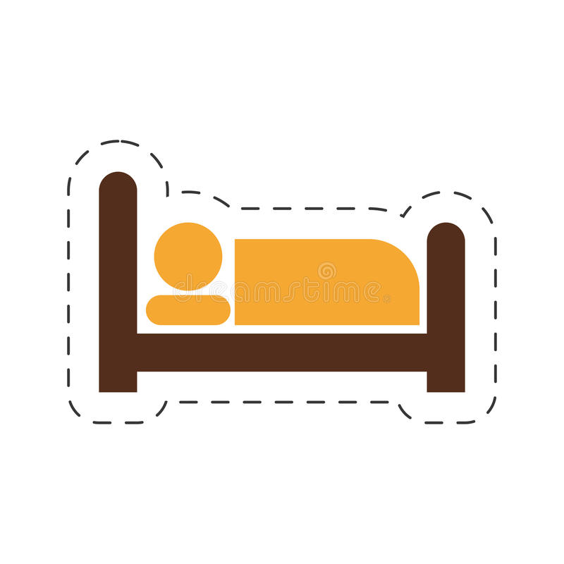imagen del sueño de la habitación ilustración del vector
