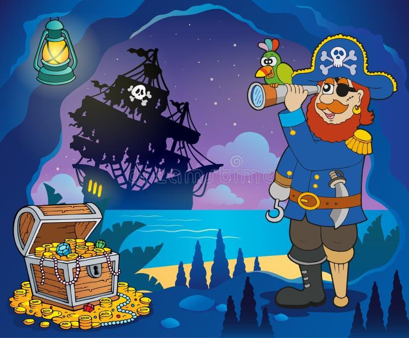 Imagen 3 del tema de la ensenada del pirata ilustración del vector