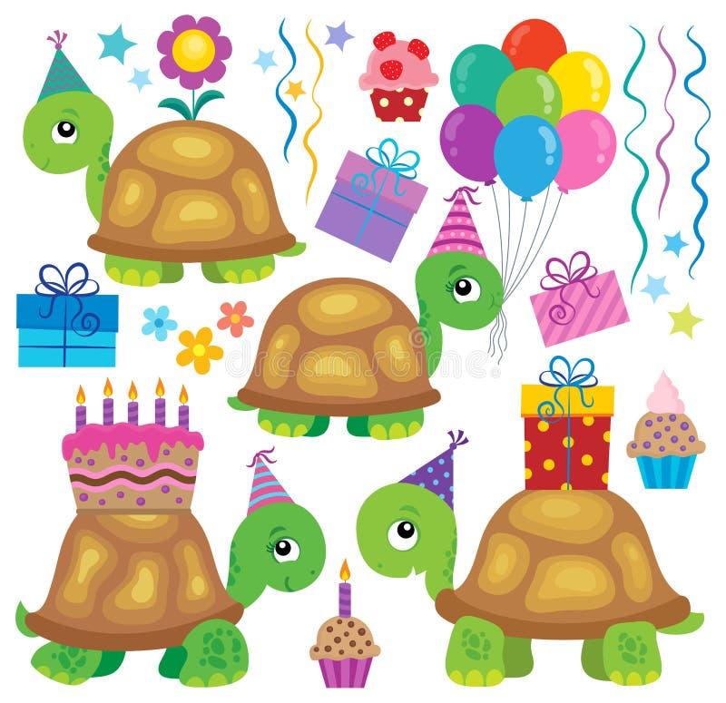 Imagen 2 del tema de las tortugas del partido ilustración del vector