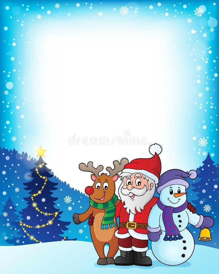 Imagen 3 del tema de los caracteres de la Navidad stock de ilustración
