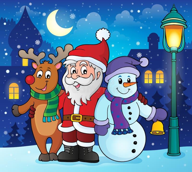 Imagen 2 del tema de los caracteres de la Navidad stock de ilustración