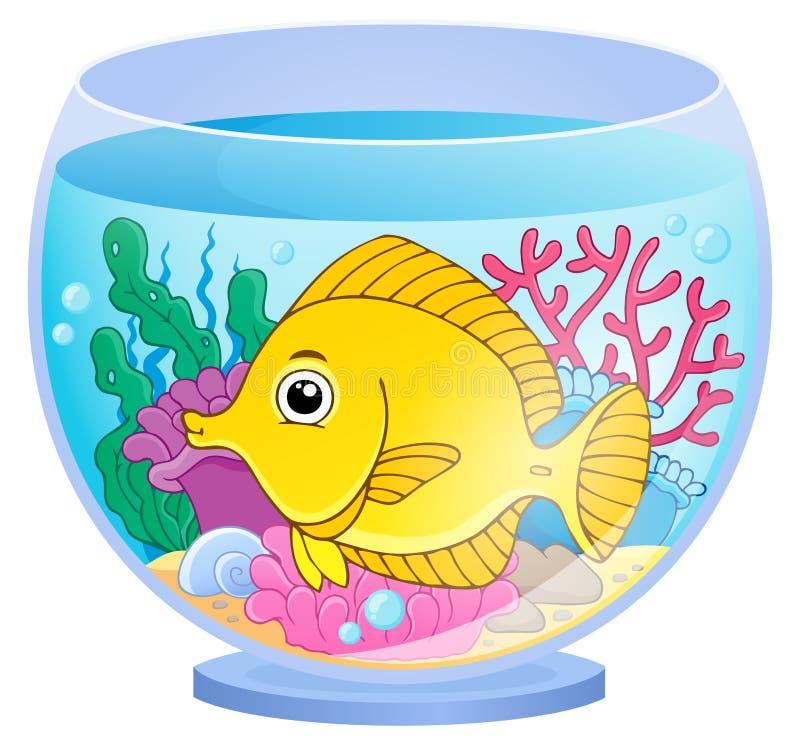 Imagen 2 del tema del acuario ilustración del vector