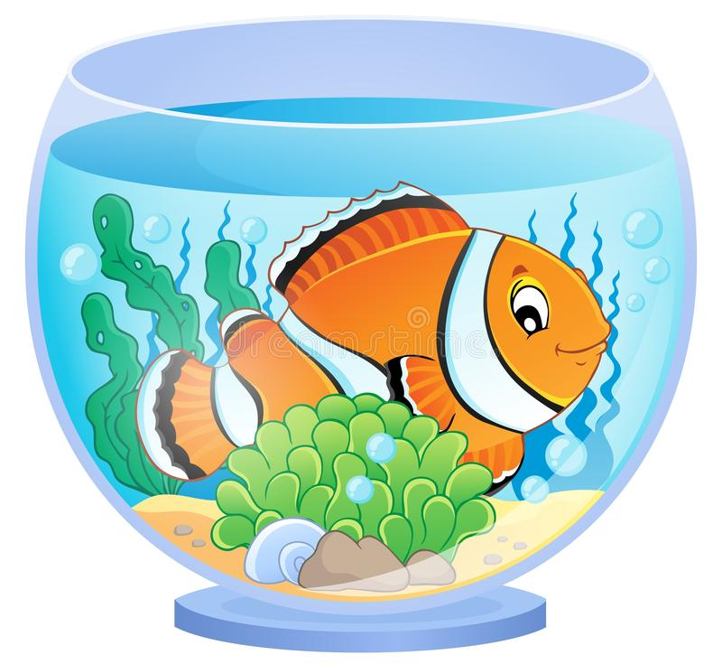 Imagen 1 del tema del acuario stock de ilustración