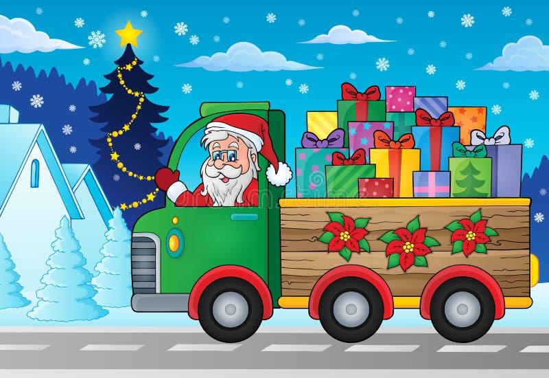 Imagen 2 del tema del camión de la Navidad libre illustration