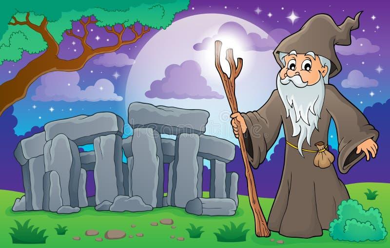 Imagen 3 del tema del druida stock de ilustración