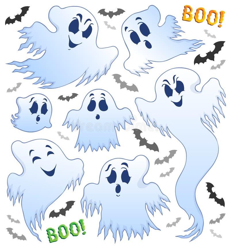 Imagen 2 del tema del fantasma ilustración del vector
