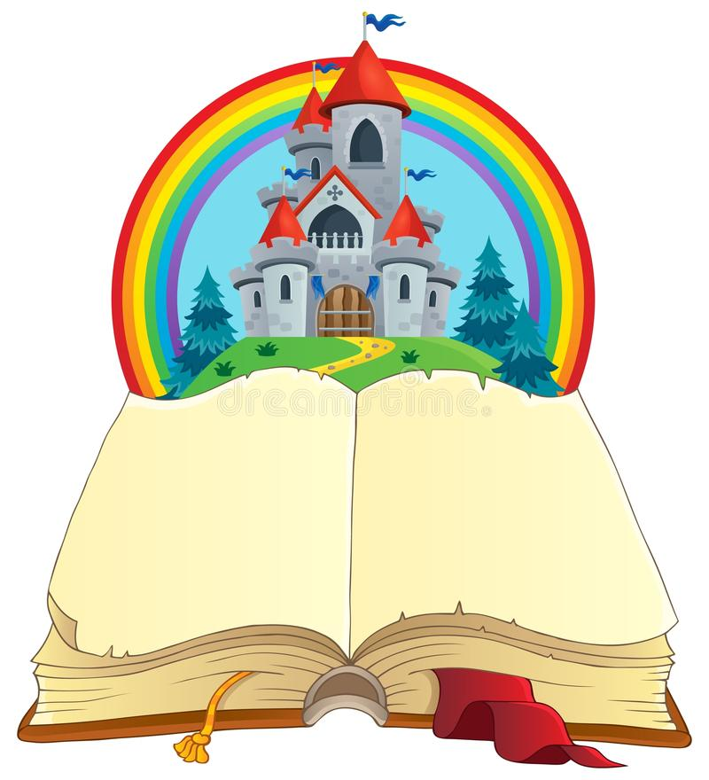 Imagen 2 del tema del libro del cuento de hadas stock de ilustración