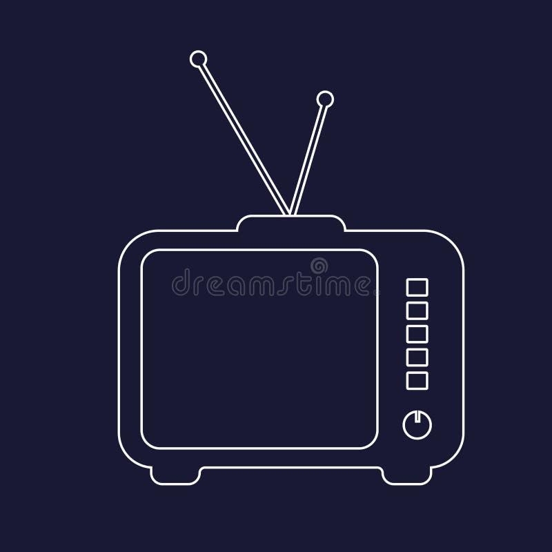 Imagen del vector del circuito de la TV Televisión retra Blanco i del vector stock de ilustración
