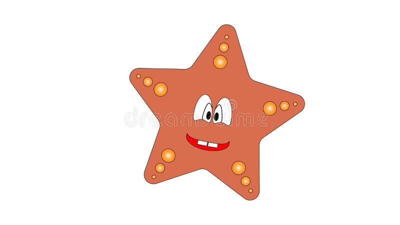 Imagen del vector de felices estrellas de mar fotos de archivo libres de regalías