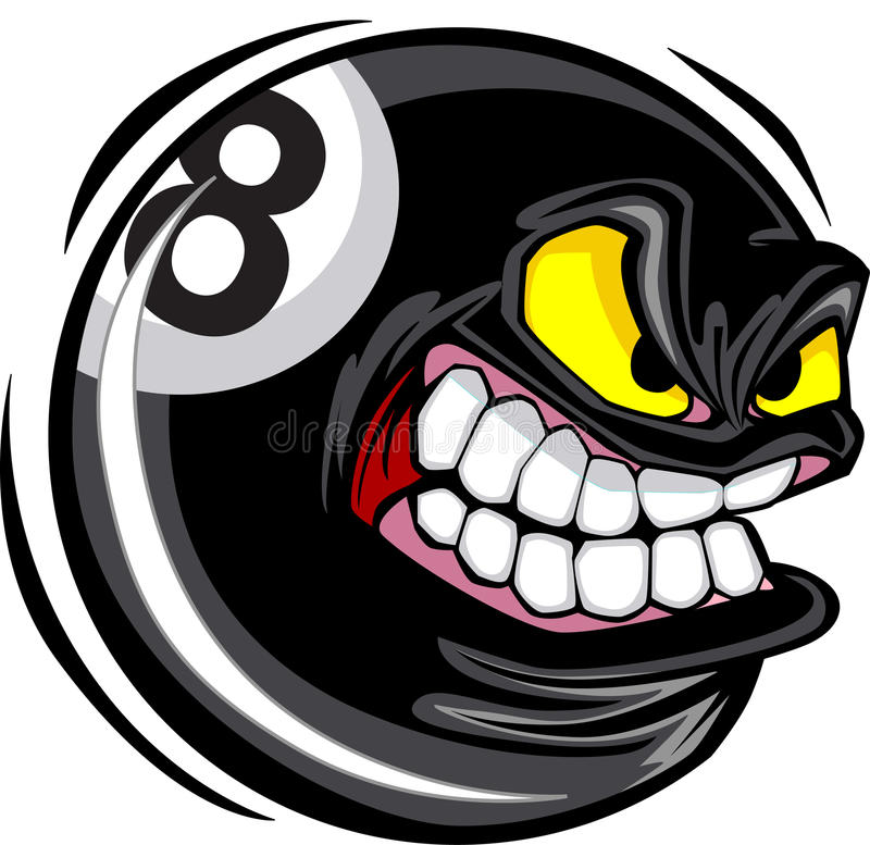 Imagen del vector de la cara de ocho bolas libre illustration