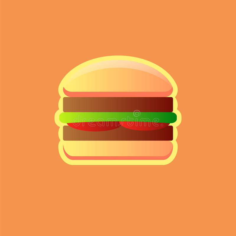 Imagen del vector de la hamburguesa libre illustration