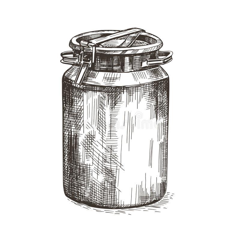 Imagen del vector de la poder de la leche Poder del metal en estilo del vintage stock de ilustración