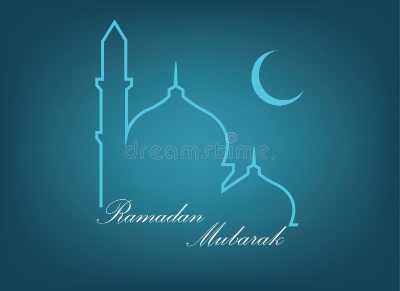 Imagen del vector de la tarjeta de felicitación del Ramadán Mubarak libre illustration