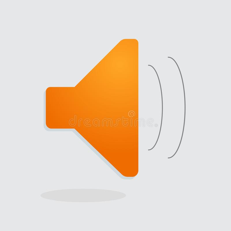 Imagen del vector de la transmisión sonora Ruidoso, sonoro, medios stock de ilustración