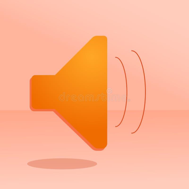 Imagen del vector de la transmisión sonora Ruidoso, sonoro, medios ilustración del vector