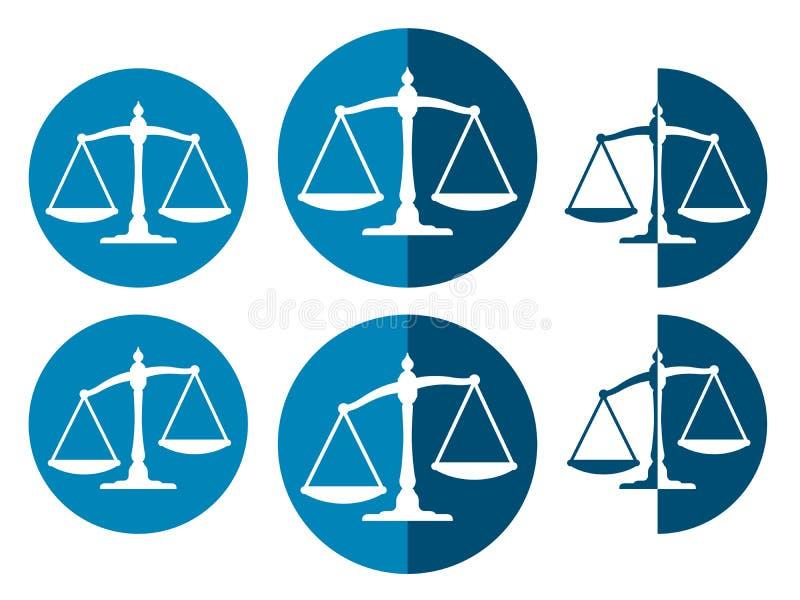 Imagen del vector de las escalas del peso stock de ilustración