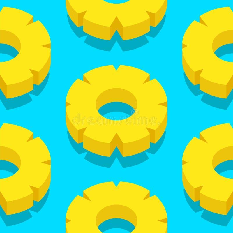 Imagen del vector de las rebanadas de la piña libre illustration