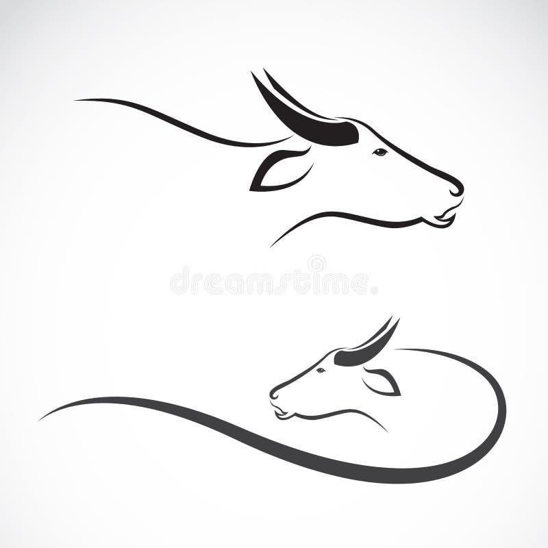 Imagen del vector de un búfalo stock de ilustración