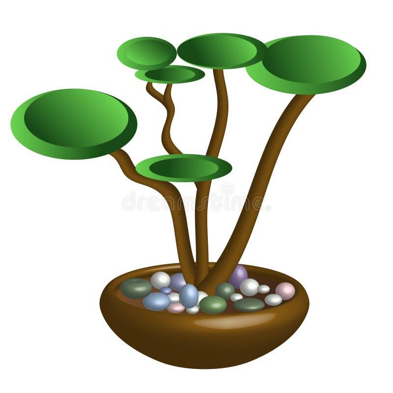 Imagen del vector de un bonsai stock de ilustración