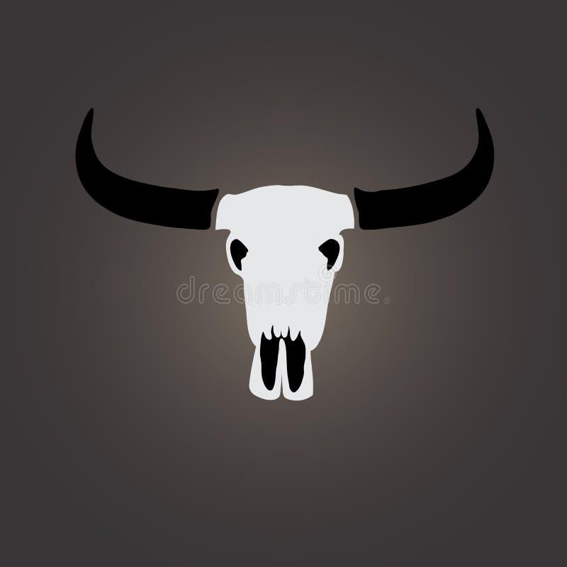 Imagen del vector de un cráneo del búfalo ilustración del vector