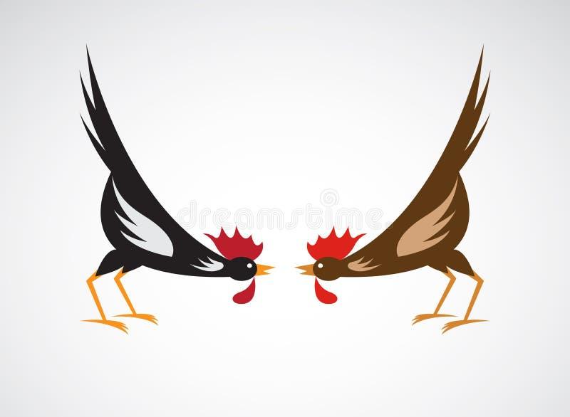 Imagen del vector de un gallo de lucha stock de ilustración