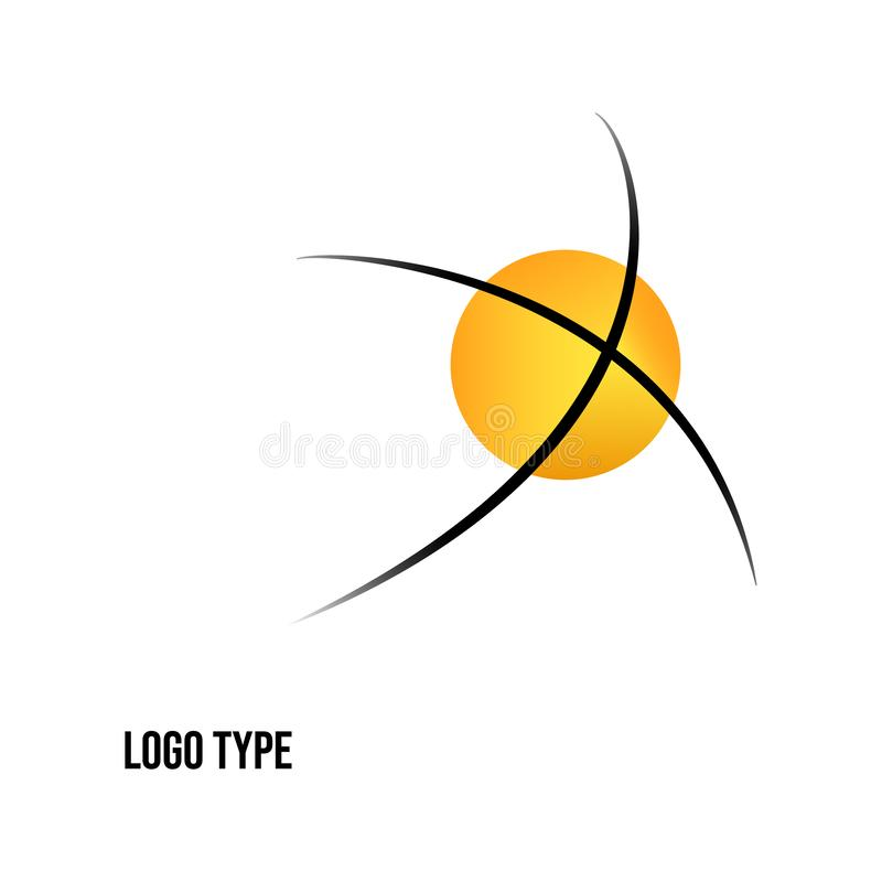 Imagen del vector de un logotipo aislado en el fondo blanco stock de ilustración