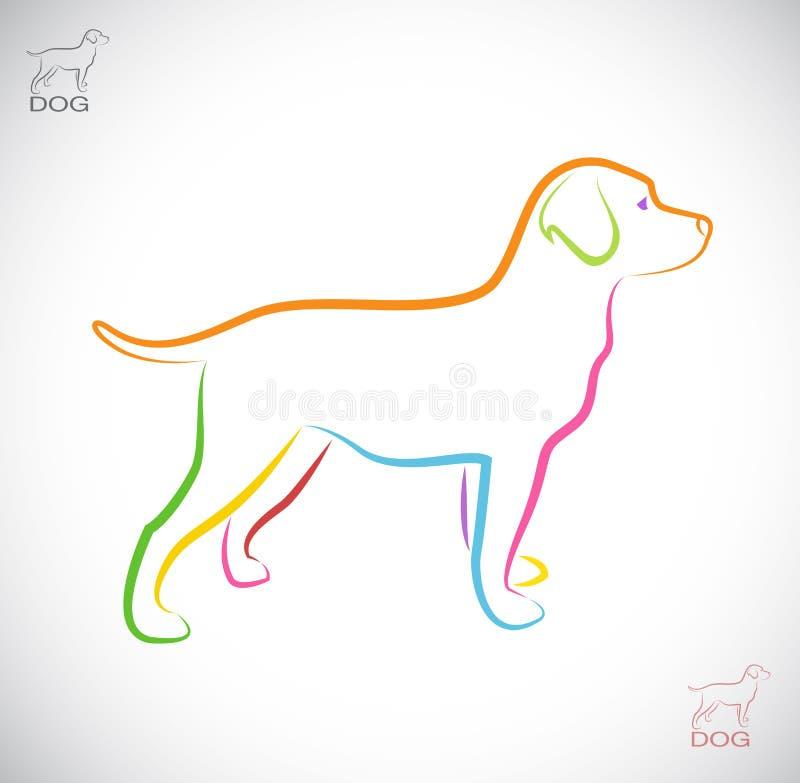 Imagen del vector de un perro Labrador stock de ilustración