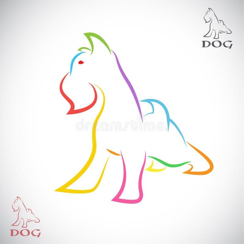 Imagen del vector de un perro (terrier irlandés) libre illustration