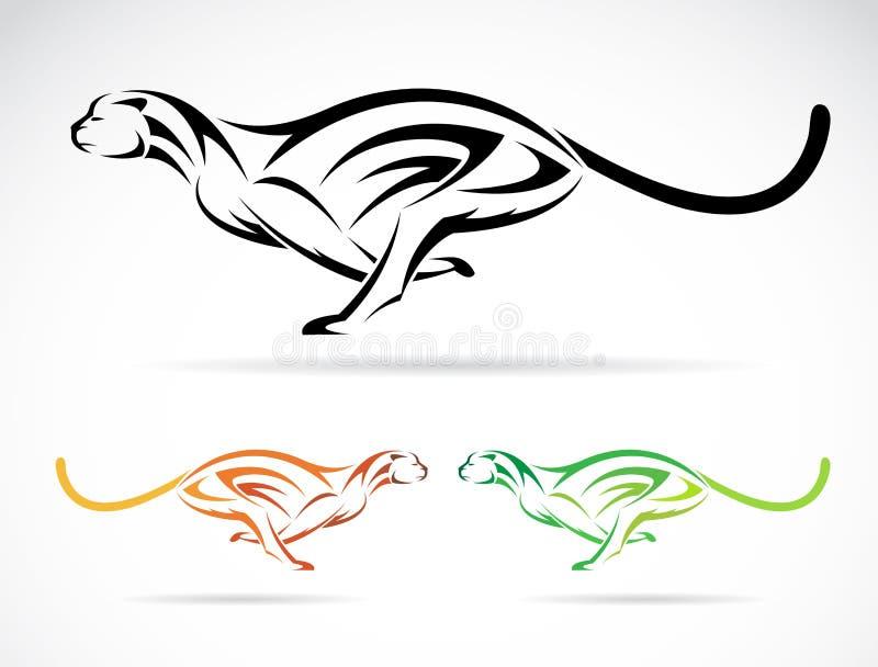 Imagen del vector de un tigre del perro (guepardo) ilustración del vector