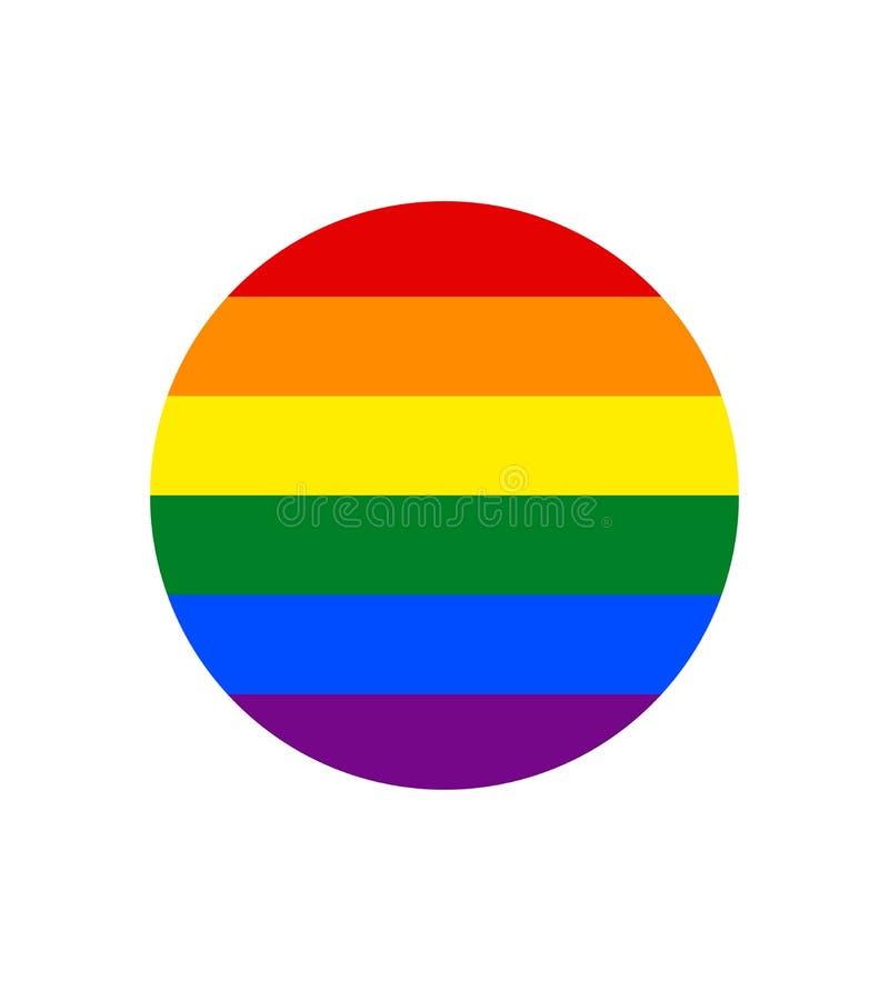 Imagen del vector de una bandera de LGBTQ+ Símbolo del orgullo La bandera del arco iris, sabido lo más extensamente posible por t libre illustration